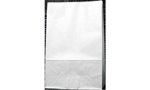 كيس ورقي بلون أبيض (بدون علاق – بقاعدة مربعة)