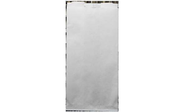 كيس ورقي بلون أبيض (بدون علاق – بقاعدة حادة)